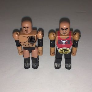 "Lot Of 2 WWE 'The Rock' C3 StackDown 2.25"" Figures"